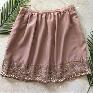 Forever 21 | Silk Nude Lace Skirt Medium